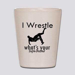 I Wrestle Shot Glass