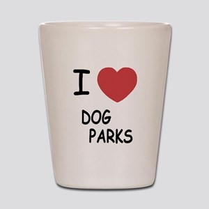 I heart dog parks Shot Glass