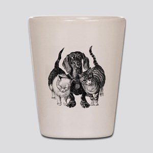 Dachshund & Friend Shot Glass