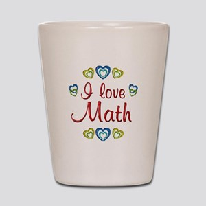 I Love Math Shot Glass
