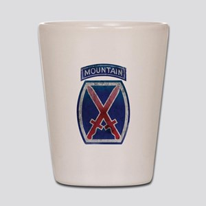 10th Mountain Division Vintag Shot Glass