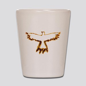 Flaming Crow Shot Glass