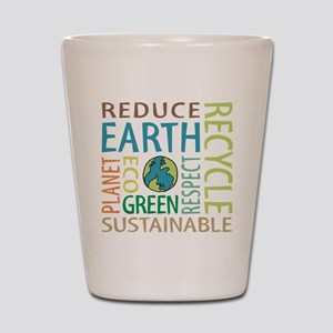 Earth Day Shot Glass