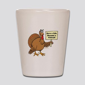 Funny Thanksgiving Shot Glass