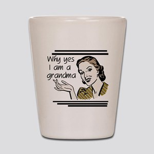 Retro Grandma Shot Glass