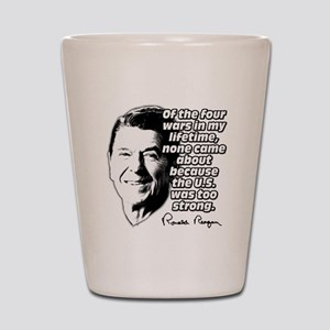 Ronald Reagan Quote Wars Defense Shot Glass