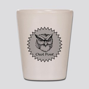 Owl Post (silver) Shot Glass