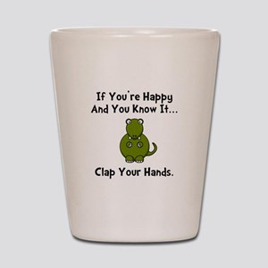 TRex Clap Shot Glass