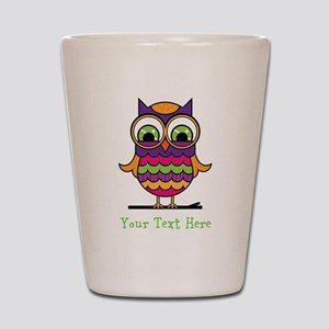 Customizable Whimsical Owl Shot Glass