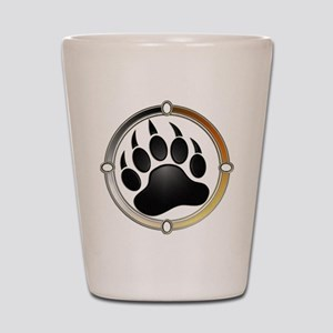 Bear Paw In Pride Circle Shot Glass
