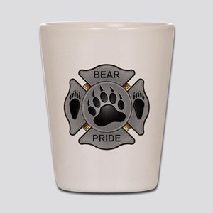 Bear Pride Firefighter Badge Shot Glass