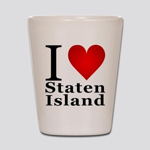 I Love Staten Island Shot Glass