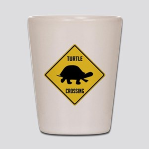 Turtle Crossing Sign Shot Glass