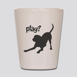 play? Labrador Shot Glass