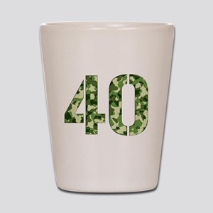 Number 40, Camo Shot Glass