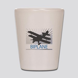 Aircraft Biplane Shot Glass