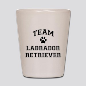 Team Labrador Retriever Shot Glass