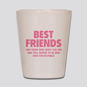 Best Friends Shot Glass
