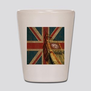 Vintage Union Jack Shot Glass