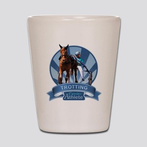 Blue Ribbon Trotting Shot Glass