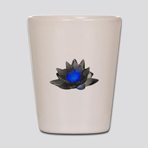 Neon Blue Lotus Shot Glass
