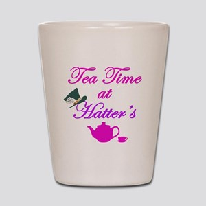 Tea Time at Hatters Shot Glass