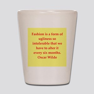 oscar wilde quote Shot Glass