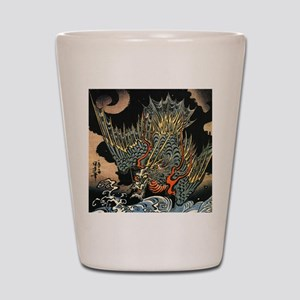 Vintage Hokusai Dragon Shot Glass