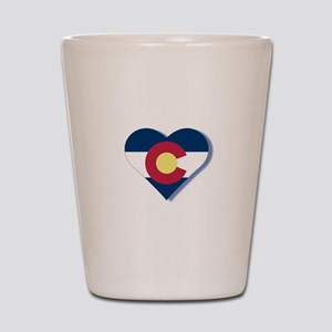 Colorado Flag Heart Shot Glass
