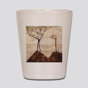 Egon Schiele Autumn Sun And Trees Shot Glass