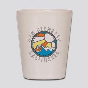 San Clemente Wave Badge Shot Glass