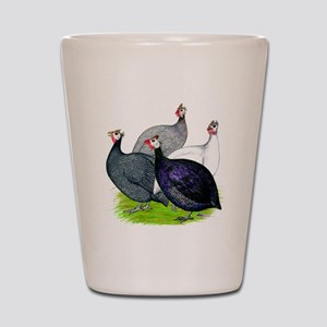 Four Guineafowl Shot Glass