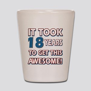 18 Year Old birthday gift ideas Shot Glass