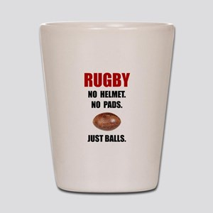 Rugby Balls Shot Glass