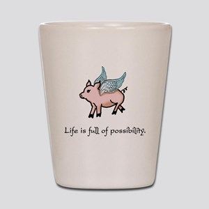 Flying Pig Shot Glass
