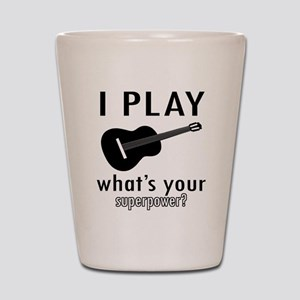 Cool Guitar Designs Shot Glass