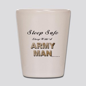 Sleep Safe Army Man Shot Glass