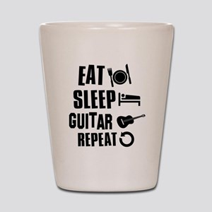 Eat Sleep Guitar Shot Glass