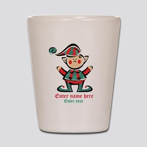 Personalized Christmas Elf Shot Glass