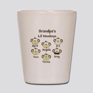 Grand kids monkeys Shot Glass