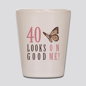 40th Birthday Butterfly Shot Glass