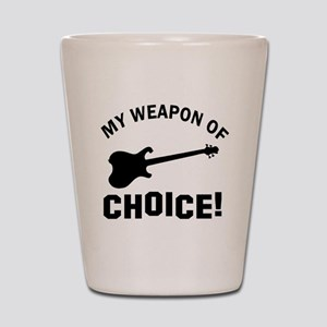Electronic Guitar Weapon Of Choice Shot Glass