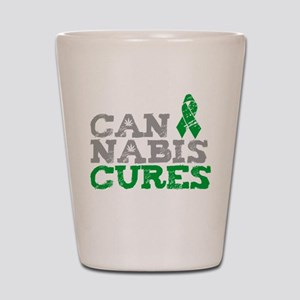Cannabis Cures Shot Glass