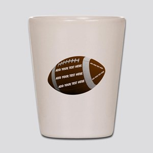Personalizable Football Shot Glass