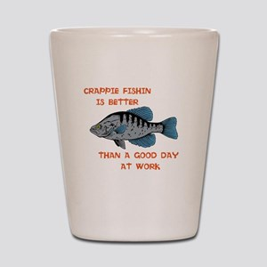 Crappie fishing Shot Glass