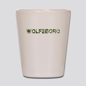 Wolfeboro, Vintage Camo, Shot Glass