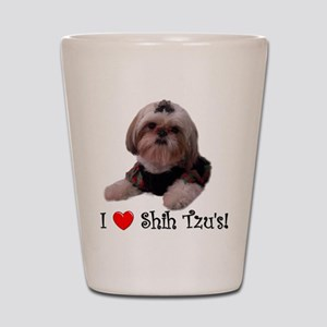 I Love Shih Tzu Shot Glass