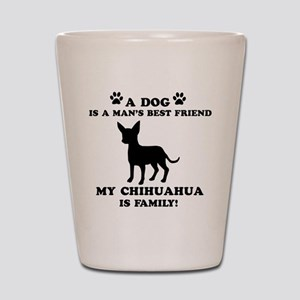 Chihuahua Dog Breed Designs Shot Glass