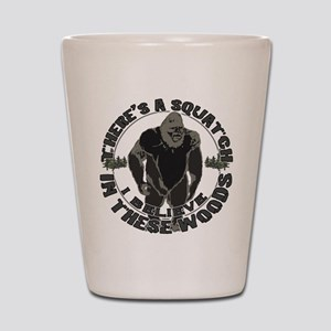 Believe in Bigfoot Shot Glass