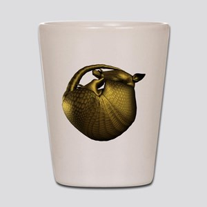 Sleeping Golden Armadill Shot Glass